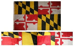 5x8 Embroidered Sewn State of Maryland Nylon Flag 5'x8' Banner Grommets