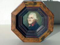 Schönes Portrait von Friedrich den Großen in einem wunderschönen Rahmen um 1820