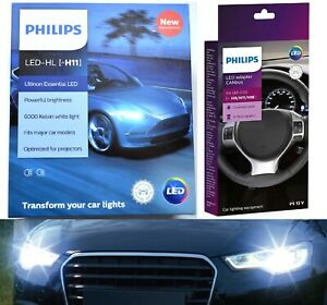 Philips LED Canceller White H11 Two Bulbs Head Light Low Beam Replace Lamp Fit