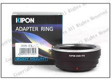 Kipon Adapter EOS-FX Canon EOS EF to Fujifilm Fuji X-PRO1 X-E1 X-E2 X-T1 X-M1