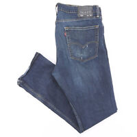 LEVI'S 513 Blue Denim Slim Straight Jeans Mens W36 L32
