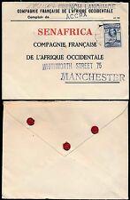 GOLD Coast FAO sigilli chiusure 1944 Posta di superficie 3D a senafrica Manchester