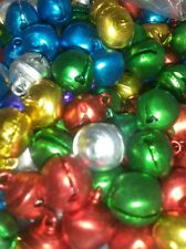 20x Jingle Bells Multi-coloured Small 8mm Christmas Crafts Jewellery Charms bell