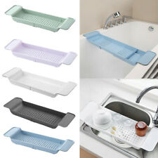 Bathroom Bathtub Shelf Caddy Shower Expandable Holder Rack Storage Tray