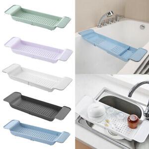 Bathroom Bathtub Shelf Caddy Shower Expandable Holder Rack Storage Tray