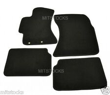 FIT FOR 2008-2011 SUBARU IMPREZA BLACK NYLON CARPET FLOOR MATS 4 PIECES