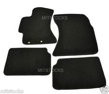 FIT FOR 2008-2011 SUBARU IMPREZA BLACK NYLON CARPET FLOOR MATS 4 PIECES