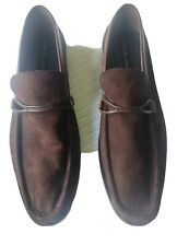 Brown Mezlan Mantegna Genuine Leather Loafers Slip On Dress Shoes Size 18 Spain