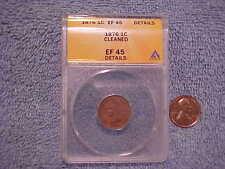 1876 US Indian Cent EF45 ANACS Slab Details    evcop