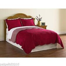 Cannon 3-Piece Mini Quilt Set Traditional Quilt Pattern - Lila Red  FULL/QUEEN