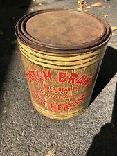 Vintage Dutch Brand Salt Herring 5 Lb Tin Can Griffin Co. Milwaukee Wis Rare