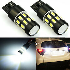 JDM ASTAR 2x 7443 960LM 24-SMD LED Backup Reverse Turn Brake Lights Bulbs White
