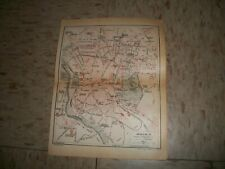 Antique 1922 Hachette Map of Madrid Spain Downtown area