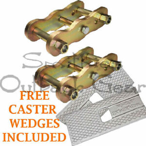 EXTENDED ANTI-INVERSION SHACKLES SUITS NISSAN NAVARA D22 REAR