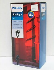 LED Spotlight Light Projector Philips 051045013 Red up to 20ft Indoor/Outdoor