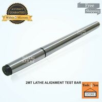2MT Lathe Alignment Test Bar MT2 Alloy Steel Over All Length 283mm 11-1/8 Inch