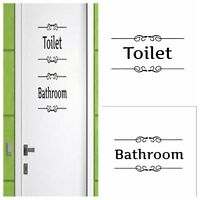 Removable Vintage Wall Stickers Bathroom Toilet Door Sign Vinyl Art Decals Sale