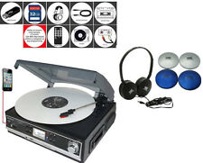 Boytone BT-16DJB-C Multi RPM Turntable Bundle W Headphones SD/AUX/USB/RCA