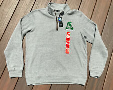 NEW Michigan State University Spartans 1/4 Zip Pullover Sweater Champion Medium