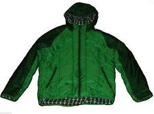 New Mens Adidas EDO Reversible Spotty Primaloft Jacket Sz M Print Hoody Green