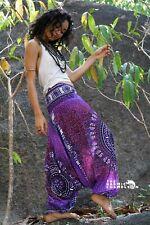 Harem Hippie Pants Bright Purple Tribal Chakra Yoga Festival Aladdin Boho Gypsy