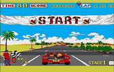 Outrun Commodore Amiga 500 Framed Print (Picture Poster Arcade Gaming Game Art)