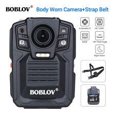 Boblov 64gb Ultra HD 1296p Police Body Worn Camera DVR 32mp Sling Belt Strap