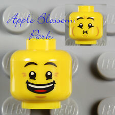 NEW Lego Boy/Girl MINIFIG HEAD w/Minifigure Happy Movie Smile & Kid Puke Face