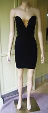 MOTEL Pamela Strapless Little Black Chain Dress Cotton bodycon Clubwear Cocktail