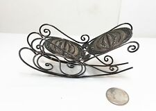 ANTIQUE STERLING MINIATURE WIRE ROCKING CHAIR DOLLHOUSE FURNITURE 24.17 grms