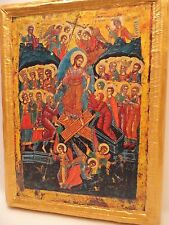 + The Resurrection Anastasis  Rare Byzantine Greek Eastern Orthodox Icon Art