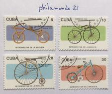 Lot 4 timbres Caraïbes FDC. YT CU 3296/99, Mi Cu 3671/74. Bicycles. 1993