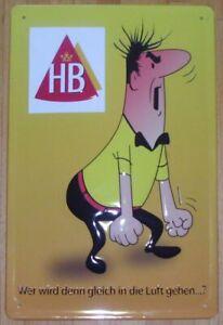 HB - MÄNNCHEN BLECHSCHILD 20 x 30cm mit PRÄGUNG