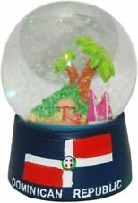 Dominican Republic In Color Snowdome Snow Globe-New -65mm