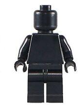 Blank Black Dark Minifigure blank plain figure toy  DIY clear color