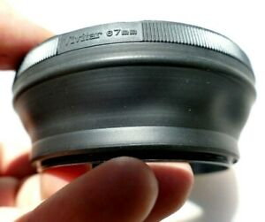 Vivitar 67mm Lens Rubber Hood shade double threaded for 70-210mm f3.8 series 1