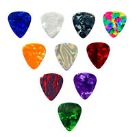 10 x Celluloid Guitar Plectrums Picks Electric Acoustic Guitar .46mm .71mm 1mm