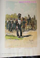PL099 - PLANCHE TANCONVILLE - SECOND EMPIRE GRENADIERS & VOLTIG DE LA GARDE 1855