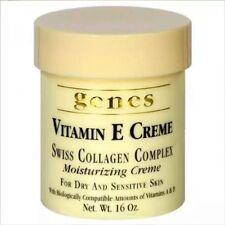 Genes Vitamin E Creme Swiss Collagen Complex Moisturizing Creme 16 oz New