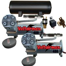 Air Bag Suspension Compressors & 5 Gallon Tank AirMaxxx 480 Pewter 200psi Kit
