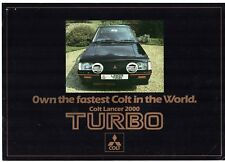 Mitsubishi Colt Lancer 2000 Turbo Prices & Option Packs 1981 UK Market Brochure
