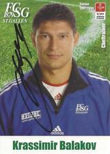 KRASSIMIR BALAKOV-BULGARIEN-VFB STUTTGART-FC ST.GALLEN-AUTOGRAMMKARTE-RAR
