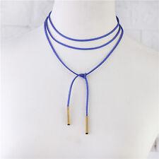 Vintage Retro Gothic Burlesque Velvet Choker Boho Neck Tie Cord Necklaces