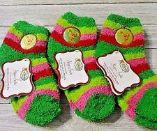 Slipper socks Tinkerbell 3 pair plush size 7 1/2-3 1/2 nwt