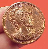 Vintage 1 Round 35mm Brass Medallion Roman Soldier Centurion Medal #2 PLAIN