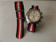20mm Nato Style MilitaryWoven Nylon Watch Strap watch Band Black/Red/White