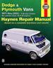 Haynes Workshop Manual Dodge Plymouth Vans V6 V8 1971-2003 New Service Repair