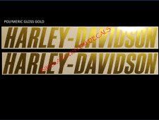 2 x 300 or 220mm HARLEY DAVIDSON style gas Tank decal sticker Chrome + colours
