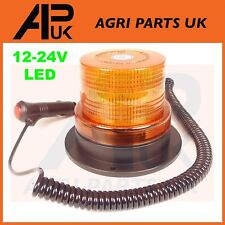 LED Magnetic Mount Rotating Flashing Amber Strobe Beacon Warning Light Recovery
