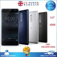 Nokia 5 - 16GB 2GB RAM 4G Unlocked SIM Free Smartphone - Black Blue Silver
